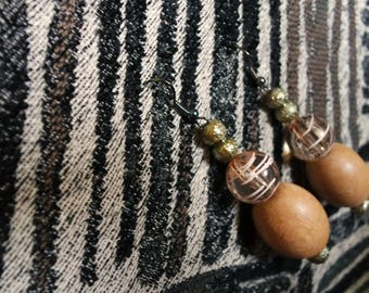 Casual Chic Wooden Earrings