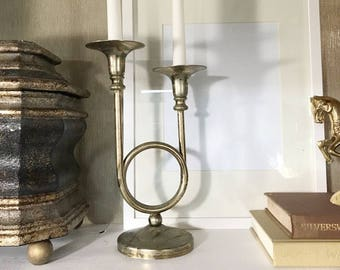 Brass Vintage Candlestick Holder