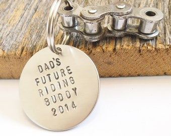 Black Friday Sale Cyber Monday Sale Small Business Saturday Sale Motocross Keychain Personalized Fathers Gift for Dad from Son Riding Buddy