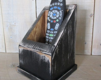 Multi Use Caddy, Remote Control Caddy, Primitive Box, Handmade Caddy, TV Remote Holer, Utility Box, Primitive Decor