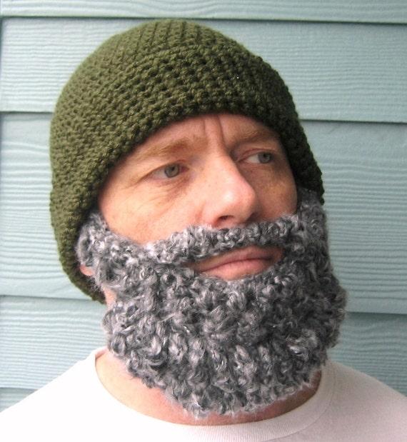 Lumberjack Party Beard Beanie Crochet Hat Pattern Gifts For Him