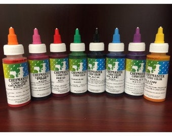 Chefmaster liqua-gel food coloring dye Made in USA for