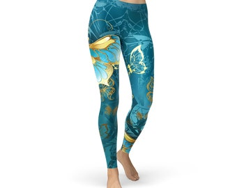 Steampunk Butterflies Leggings - Quality All-Over Print Leggings - FREE US Shipping - Comfortable Spandex Tights Leggings For All - US Made