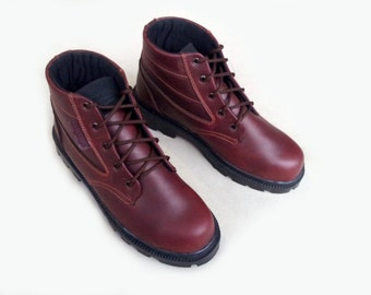 leather shoes brown chestnut maroon handmade Rangkayo ankle boots Preorder men women
