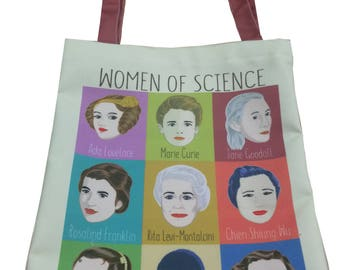 Nine Women of Science Tote bag