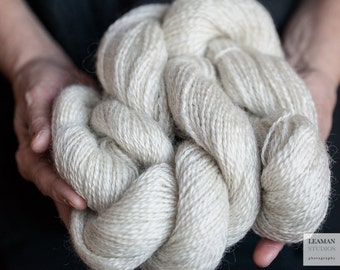Leicester Longwool Natural White Wool Yarn