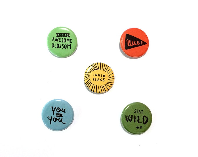 "Good Vibes Essential Kit Buttons | 1 1/4"", Pack of 5 