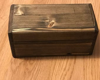 "6 1/2"" x 3"" Reclaimed Wood Keepsake Box"