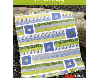 "Pattern ""Breezy"" Crib / Baby Quilt Pattern by Cluck Cluck Sew (CCS148) Paper Pattern Instructions"