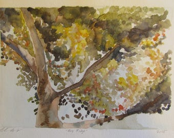 Tree 9x12 watercolor print