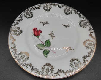 Set of 6 vintage porcelain dessert plates