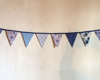 """""""The Royal Blue"""" paper Bunting"""