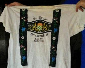 Vintage Kiss Me Im German Strassenfest T-shirt- Large