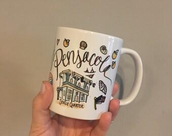 Pensacola, FL Florida 11oz Gift Mug