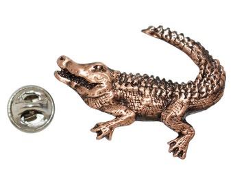 Copper ~ Alligator ~ Lapel Pin / Brooch ~ AC071