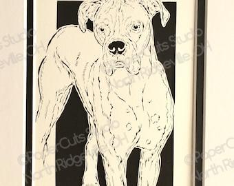 Boxer Papercutting- Handcut Original