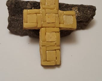 Mosaic Cross, Magnet, Handmade Marble Mosaic Design, Marble cross, Marble and stained glass mosaic cross, stained glas, marble, cross magnet