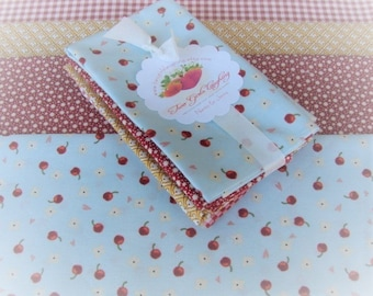 Quilters Fabric Bundle Cherries & More Fat Eights Gingham Stars Retro Tulips Small Prints Quilt Detash Red Blue Yellow White Sewing Material