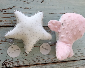 Star Rattle and whale stuffed Toy