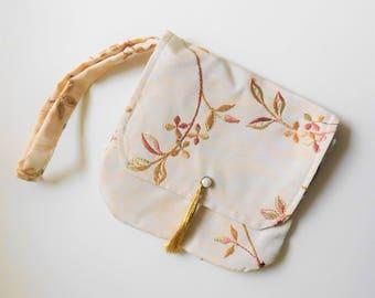 Handmade clutch purse, Purses for women, Fabric handbag, Bridesmaid gift, Spring wedding accessory, Womens gift ideas, Handbag gift for her.