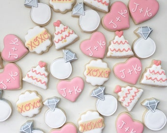 Wedding Cookies, Wedding Treat Bags, Mini Cookies, Mini Wedding Cookies, Engagement Cookies, Shower Favors, Wedding Favors, Treat Bags