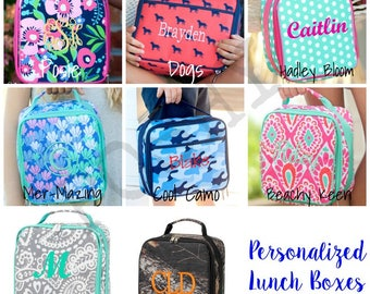 Monogrammed Kids Lunch box, Lunch box, monogram lunch box, kids lunch box, kids lunch bag