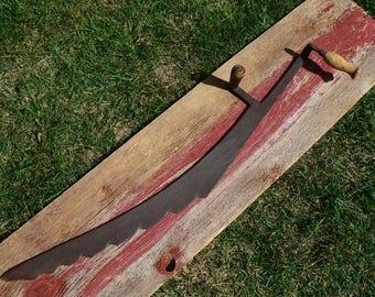 Hay Knife Primitive Vintage Farm Tool /Rustic Barn Western Décor Steampunk