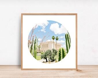 Mesa LDS Temple Cactus Circle Crop
