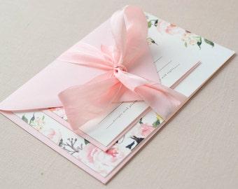 Printed Sample Invitation Set | Letterpress, Gold Foil or Digital Printing