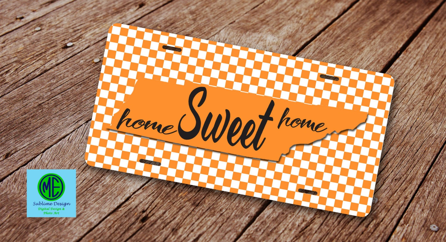 Tennessee Home Sweet Home License Plate. License