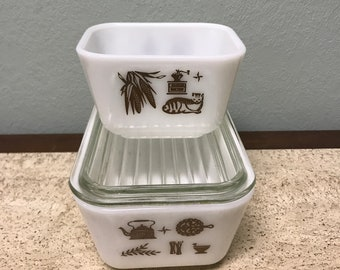 American Heritage Pyrex Refrigerator Dish 501 and 502
