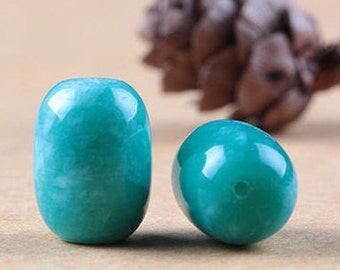 4pcs-18mmX12mm natural Russian Amazonite gemstone focal beads