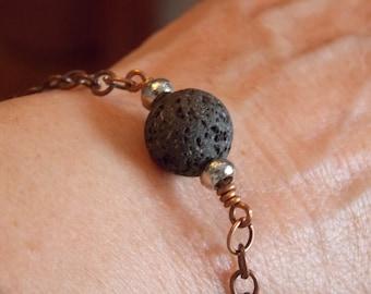 Natural lava stone oil diffuser bracelet. lava stone bracelet, lava rock bracelet, oil diffuser bracelet, natural lava stone bracelet,