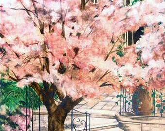"Susan Sahall ""Flowering Tree"" - S/N Serigraph - Retail 1,250 - COA - Buy/Sell/Trade - See Live At GallArt"