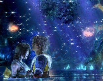 Final Fantasy X 10 Tidus Yuna A4 Puzzle - 120 Pieces