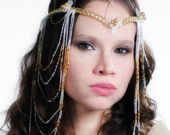 Custom Elven Wedding Headdress Art Nouveau