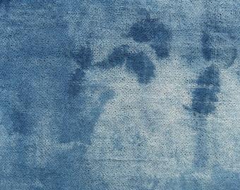 Indigo Dyed Shibori Indonesian Cotton Scarf