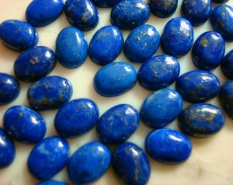 1 Lapis cabochon natural Afghanistan Lapis Lazuli oval cabochons 6x8mm cb014
