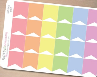 Page Flags Bright || Reminder Planner Stickers Perfect for Erin Condren, Kikki K, Filofax and all other Planners