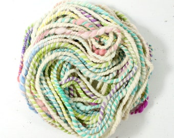 candy twist 1  ... handspun yarn set, weaving creative yarn bundle, hand spun, hand dyed yarn, handspun art yarn