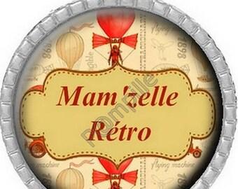Cabochon pendant - Mam' mam'selle Retro (496)