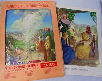 Concordia Bible TEACHING PICTURES Complete Set of New Testament Bible Art Prints