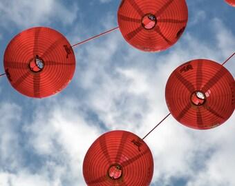 London Photography - Chinatown Lanterns Print - Red - Chinese New Year