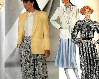 McCall's 2780   Misses Jacket, Blouse, Choker, Skirt      Size 8     Uncut