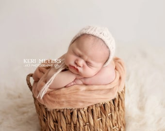 butterflies angora bonnet - newborn photo prop