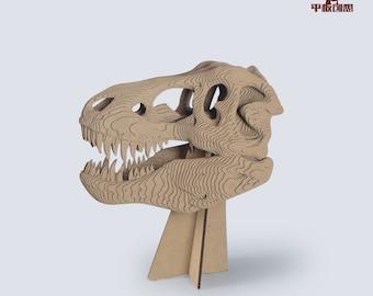 T-rex Skull Statue - DIY Cardboard Craft