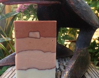 Ponder Rosa - A skin smoothing clay soap lightly scented with Patchouli. 12 BARS!
