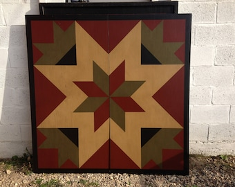 PRiMiTiVe Hand-Painted Barn Quilt - 5' x 5' ANY PATTERN