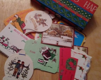 Large Lot of Vintage Christmas Gift Labels