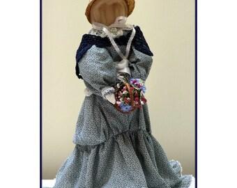 Dee Victorian Faceless Lady Art Doll E-Pattern